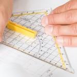 Geodriehoek voor Wiskunde en Meetkunde